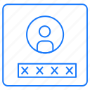 account, media, passoword, password, profile, social icon