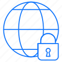 globe, internet, protected icon