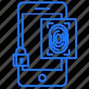 impression, locked, media, mobile, thumb icon