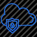cloud, protection, sheild icon