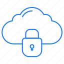 cloud, internet, locked, protection icon