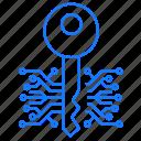 circuit, key, protection icon