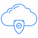 cloud, protected, protection icon