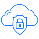 cloud, internet, protected, protection icon