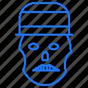 danger, horror, skull icon