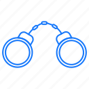 cuffs, hand, locked, protection, security icon