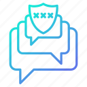 chat, communication, conversation, protection, security icon