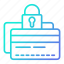 card, credit, payment, protection, secure icon