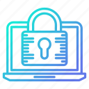 computer, data, password, protection, secure, system icon