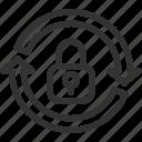 key, refresh, renew, reset, update icon