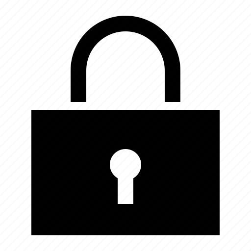 lock, protect, rectangle, secure, security icon