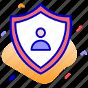 authentication, confidential, privacy, shield icon