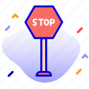 direction, sign, stop, stop sign icon