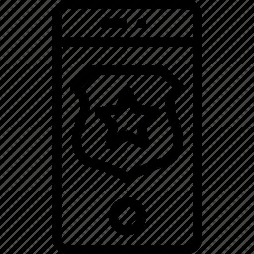 lock, phone, screen, security, shield, smart, star icon