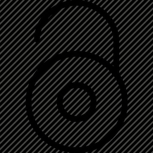 combination, lock, locket, plain, unlocked, wheel icon