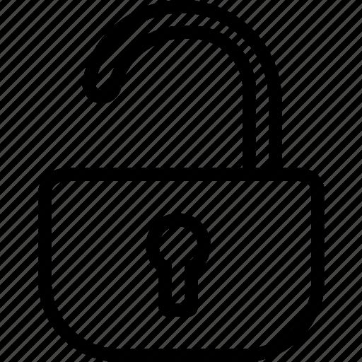 locket, unlock, unsafe icon