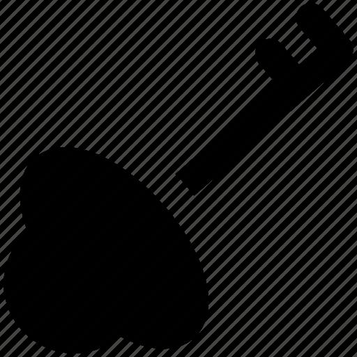 key, lock, privacy, protection, retro key, safety, secrecy icon