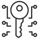 key, lock, protect, security, shield icon