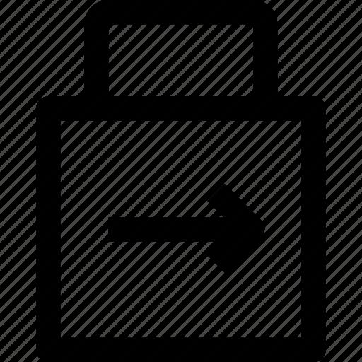 arrow, key, lockpad, protect, security icon