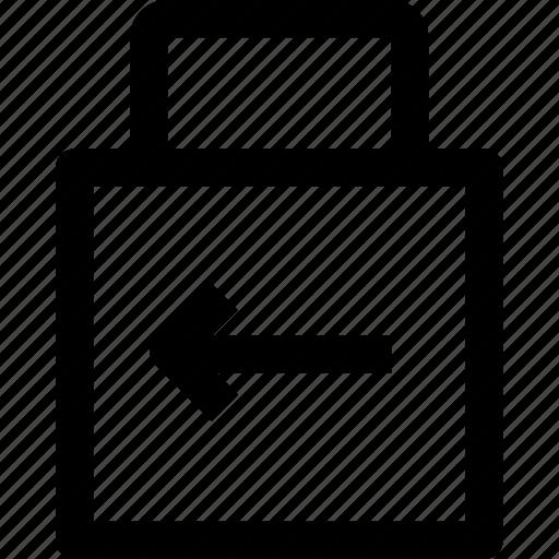 arrow, key, lockpad, security icon