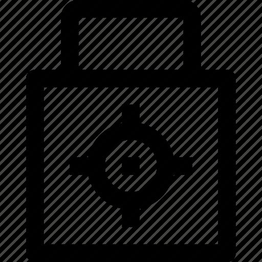 key, lockpad, protect, security, target icon