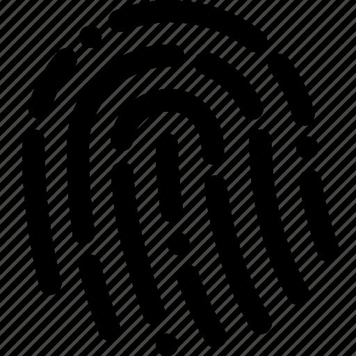 finger, fingerprint, human, identity, sensor, touch id icon
