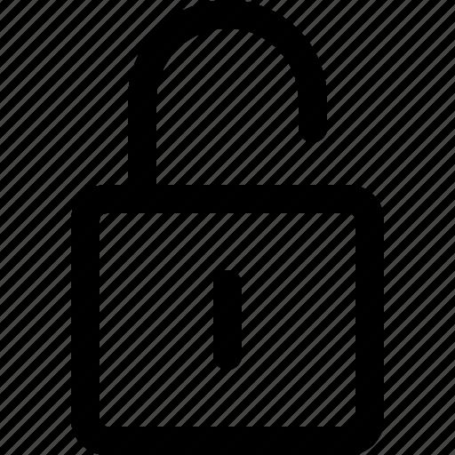 lock, locked, padlock, secure, unlock icon