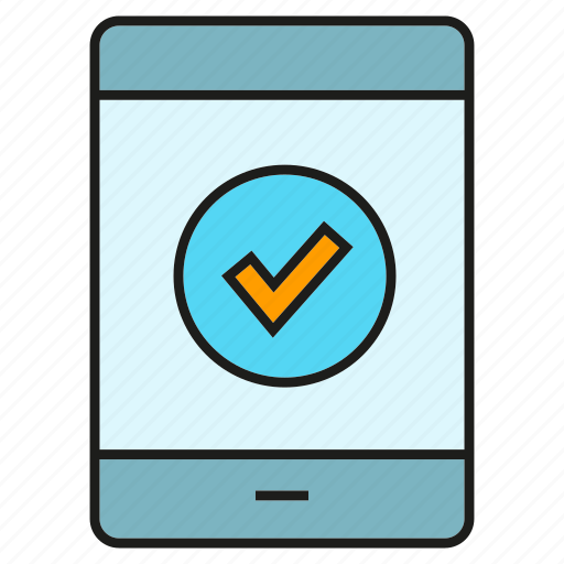 access, approve, mobile, phone, security, smart phone icon