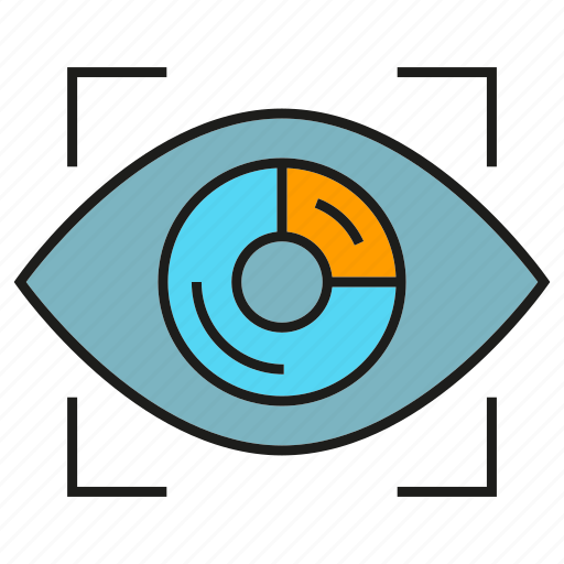eye scan, identity, iris scan, security icon
