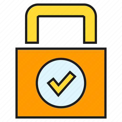 Approve, check, key, lock, protect, security icon - Download on Iconfinder
