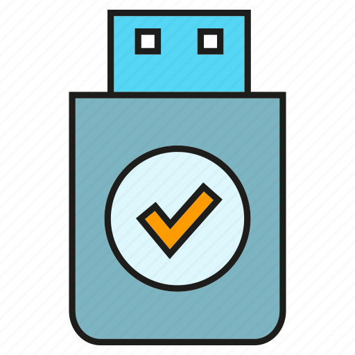 memory, protect, safe, save, security, thumb drive icon
