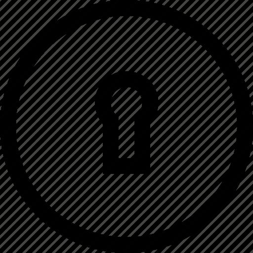 hole, key, lock, locked, padlock, secure, security icon
