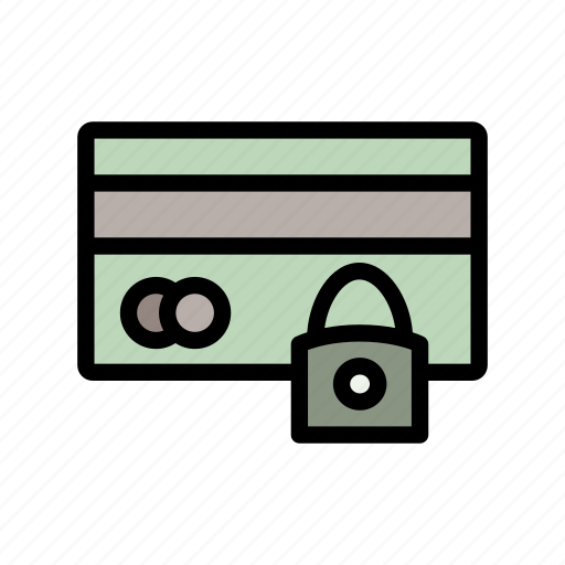bank, card, lock, password, protect, security icon