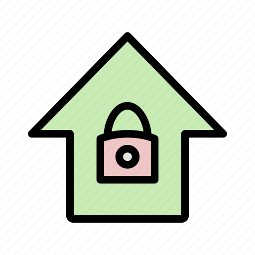 home, lock, protect, security icon