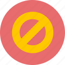 blocked, forbidden, prohibited icon