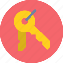 decrypt, key, open, password icon