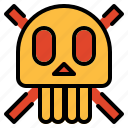 dangerous, dead, halloween, poison, poisonous, skull icon