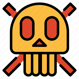 dangerous, dead, halloween, poison, poisonous, skull icon