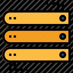 database, files, hosting, network, server, storage, technology icon