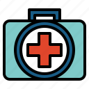 first aid kit, health care, medical, medicine icon