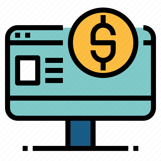 browser, business, internet banking, payment icon