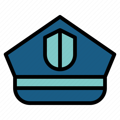hat, police, policeman, security icon