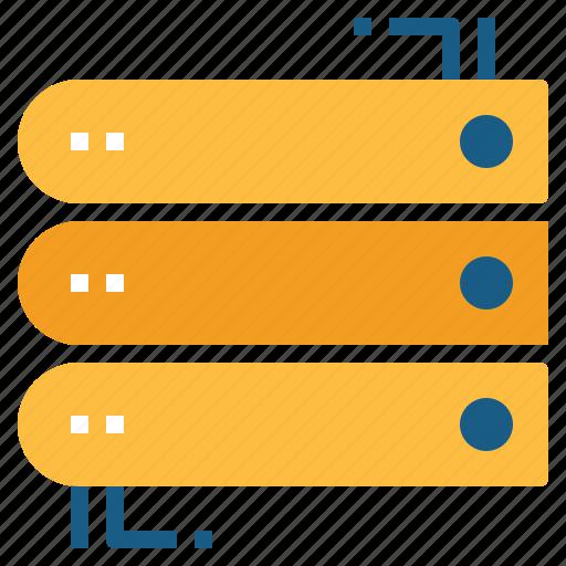 database, files, hosting, network, server, storage icon