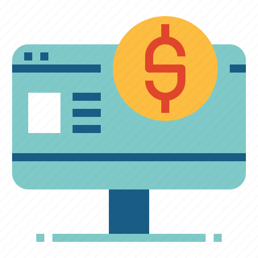 banking, browser, internet banking, payment icon