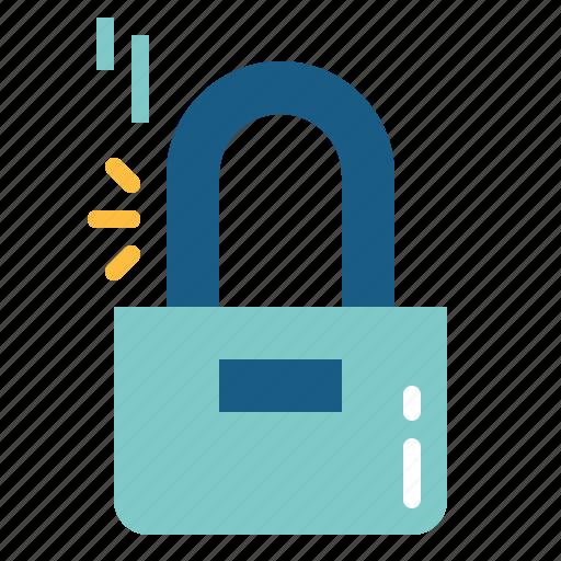 lock, locked, padlock, secure, security icon