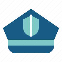 hat, occupation, police, policeman, protection, security icon