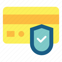 card, payment, secure, security, shield icon