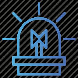 alarm, alert, security, siren icon