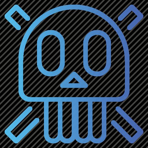 dangerous, dead, poison, poisonous, skull icon