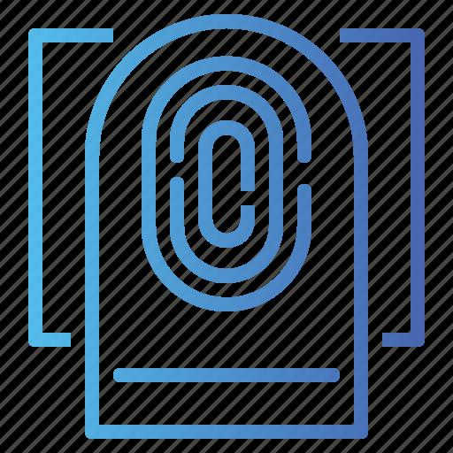 fingerprint, scan, scanning icon